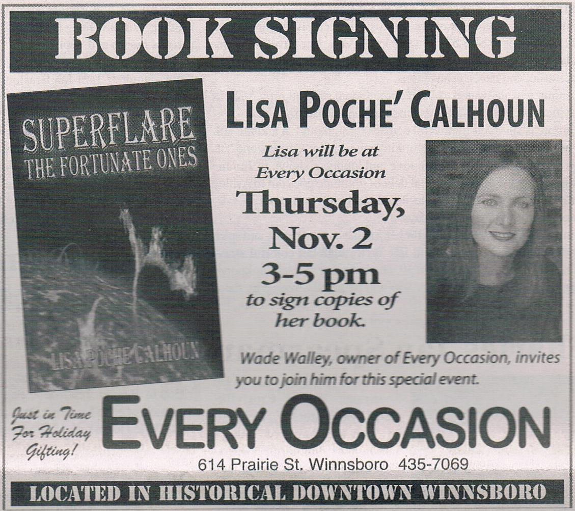 Franklin Parish Sun - book signing ad